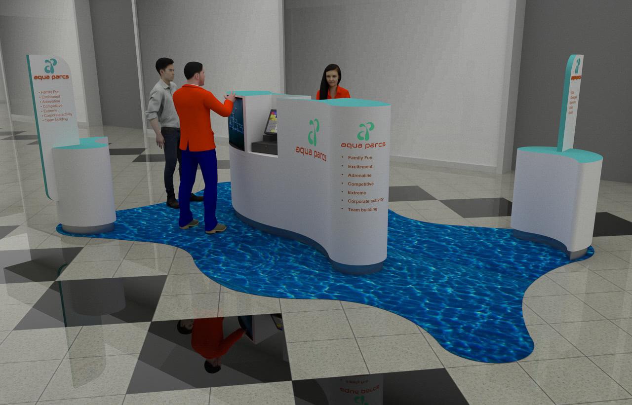 Aqua Parcs Kiosk Render