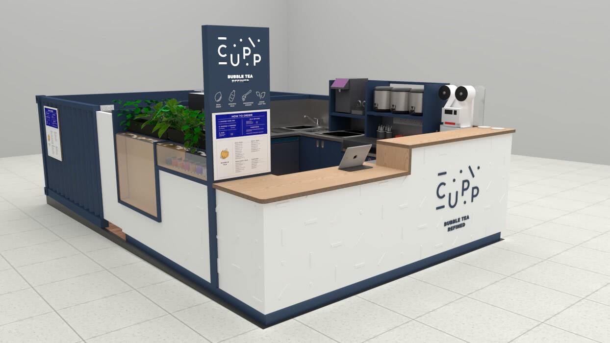 Pic 2 - Cupp Bubble Tea Kiosk Render